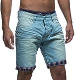 LEIF NELSON Herren Jeans Shorts LN1399-2826