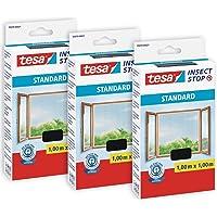 Tesa Insect Stop Auto-Agrippant STANDARD pour Fenêtres - Filet Anti-Moustiques Adhésif - Découpable à la Dimension…
