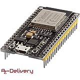 AZDelivery ESP32 NodeMCU Module WLAN WiFi Development Board mit CP2102 (Nachfolgermodell zum ESP8266) und inklusive E-Book!