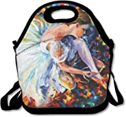 Ballet Dancer Colorful Art Lunch Bag Lunch Tote Lunch Box Handbag For Kids And Adults