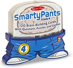 Melissa & Doug Smarty Pants, Grade 4: 120 Brain-Building Cards with Questions, Puzzles, and Games