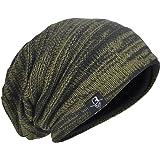 Berretto da uomo lavorato a maglia, lungo e con calzata morbida, stile vintage, hip hop, cappello invernale