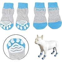 Hcpet Anti-Rutsch Hund Socken, Set of 4 Hundesocken für Innenbereich, Pfotenschutz für klein und Mittel Hund