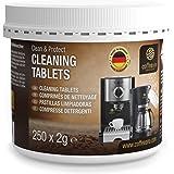 Coffeeano Clean & Protect Reinigingstabletten voor koffieautomaten en koffiezetapparaten, 250 stuks Reinigingstabletten, gesc