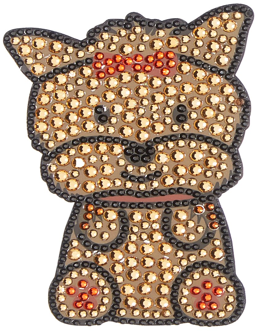 FouFou Dog Rhinestone Sticker Yorkshire Terrier