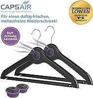 CAPSAIR Mottenschutz-Bügel | Kleiderbügel mit echten Lavendelblüten | Schützt die Kleidung vor Motten | Neutralisiert Gerüche | Caps Perfume Systems