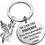 FUSTMW فينيكس سلسلة مفاتيح ملهمة هدايا فينيكس شروق فينيكس قلادة مجوهرات تشجيع الاستشفاء هدايا فينيكس عشاق الهدايا التخرج