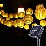 Joomer Solar Lichterkette Lampion Außen, 6M 30er LED IP65 Wasserdicht Lampion/Laternen Solar Lichterkette Auße Beleuchtung fü