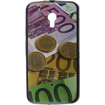 iCandy™ UV Printed Matte Finish Soft Back Cover for Motorola Moto G (3rd gen) - Coins