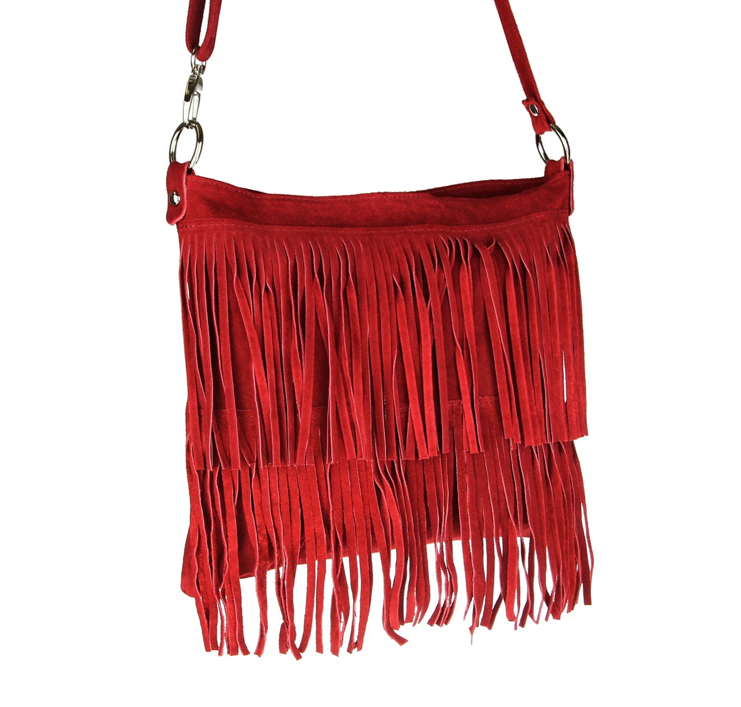 Made Italy, Borsa tote donna rosso Rot 32x30x5 cm (BxHxT)