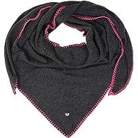 Zwillingsherz Dreieckstuch mit Kaschmir - Hochwertiger Schal mit Häkelrand für Damen Jungen und Mädchen - XXL Hals-Tuch…
