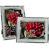 Amazon Brand - Umi Cornice Foto 13x18cm con Vetro Scintillante, 2 pezzi