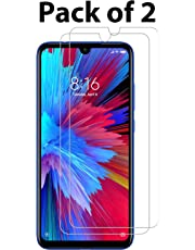 POPIO Tempered Glass for Xiaomi Redmi 7 / Xiaomi Redmi Note 7 / Redmi Note 7 Pro / Xiaomi Redmi Y3 (Transparent)-Full Screen Coverage (Except Edges) with easy installation kit Pack of 2