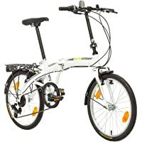 Multibrand PROBIKE Folding 20 Zoll Klapprad, Faltrad, Shimano 6 Gang, Herren-Fahrrad & Jungen-Fahrrad, Schutzbleche…
