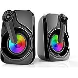 مكبرات الصوت، سماعات مابو للكمبيوتر الشخصي تعمل بالUSB 3.5 مم ووسائط متعددة مع ضوء RGB لأجهزة الكمبيوتر المحمول والكمبيوتر ال