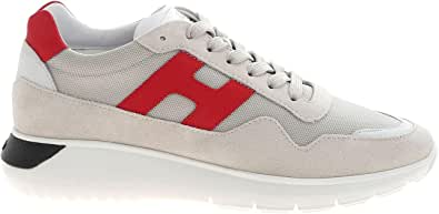 Hogan Luxury Fashion Uomo HXM3710AJ18PDK51AG Bianco Camoscio Sneakers   Ss21
