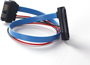 ULT-Best SATA Cable Serial ATA 22Pin 7+15 Female to Slimline SATA 13Pin 7+6 Male Connector Conterver - 30CM/1FT/12INCH