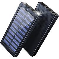 Aikove Solar Powerbank, 24000mAh Externer Akku, 4 USB mit 2.4A Ausgänge Tragbares Ladegerät für Aktivitäten im Freien…
