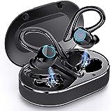 Ecouteur Bluetooth 5.1, Andfive Ecouteurs sans Fil Sport Oreillette Bluetooth Stéréo Basses avec Double Micro, USB-C Charge R