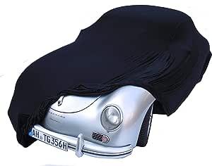 Excolo Auto Schutzhülle Schutzhaube Plane Indoor Hochwertig Rot Grau Oder Schwarz Bis 5 80 M Lang Schwarz Bis 5 10 Meter Auto