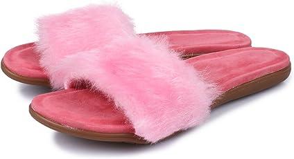 Do Bhai Stylish Fur Flats For Women