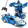 Transformator Radiostyrd bil transformers-leksaker 2 i 1 fjärrstyrd bil för barn billeksak för pojkar i åldern 5-12 deformati