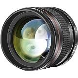 Neewer Mehrfachvergütetes 85 mm f/1,8 Porträt-Objektiv für Canon EOS 80D 70D 60D 60Da 50D 7D 6D 5D 5DS 1Ds Rebel T6s T6i T6 T5i T5 T4i T3i T3 T2i und SL1 DSLR-Kameras, manueller Fokus HD Glas