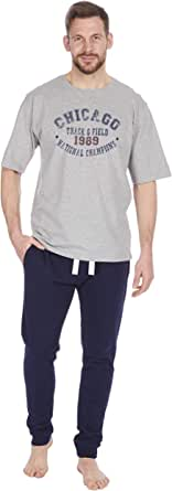 Cargo Bay Mens French Terry Top and Bottoms Lounge Set