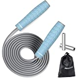 PROIRON Weighted Skipping Rope 1LB, Weighted Jump Rope Extra Thick 7mm, Skipping Rope Adult for Women Men, Heavy Jump Rope fo