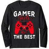 Zockerin Gamer Freundin Geschenk - Gamer Girls are the Best Langarmshirt