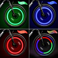Phare Lampe de Vélo 8pcs Clip-On Led Allume de Bicyclette de Bande Silicone