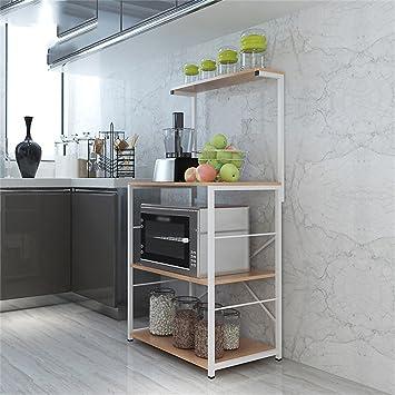 Amazon.de: Küchenmöbel-WXP Mikrowelle Ofen Regal Küche Regal Boden ...