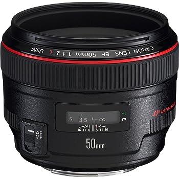 Canon EF 50 mm f/1.2L USM Lens, Black