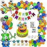 SPECOOL Monster Party Globos Decoración, DIY Monster Bash Latex Globos de Látex para Monster Bash Party Pack para Niños Cumpl
