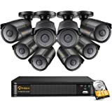Anlapus 4K H.265+ Sistema de Vigilancia 8CH Súper HD Videograbador con 2TB Disco Duro 8 Cámaras Exterior, 30M Visión Nocturna