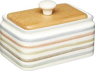 KitchenCraft Classic Collection Keramik-Butterdose mit Deckel, cremefarben