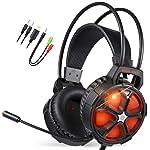 EasySMX Casque de Jeu avec Micro et contrôle du Volume pour PC/PC/PC/PC/Mac/New Slim Xbox One/PS4