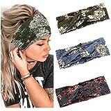 Yean - Fasce elastiche incrociate per capelli, in stile bohémien, per donne e ragazze
