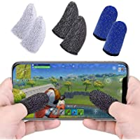 Ephemeral Gaming Touchscreen Conductive Fiber Cap Anti-Sweat Breathable Touch Finger Gloves for Mobile Phone Games…