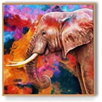 PAPER PLANE DESIGN Luxury Floating Animals Frame Canvas Painting Wall Art - 18 x 18 inch (Wall Art -1)