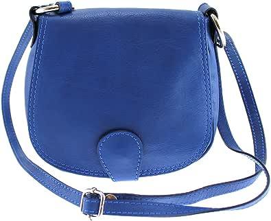 Chicca Tutto Moda CTM Borsa da Donna Pochette con Tracolla, 19x17x6cm, Vera Pelle 100% Made in Italy