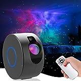 LED Galaxy Sternenhimmel Projektor, 3D Sternenlicht Projektor Lamp mit Fernbedienung, 8 Farben Aurora-Effekt Nachtlicht für B