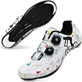 JOINFREE Men Women Cycling Shoes Road SPD Bike Cycling Shoes Spin Shoestring Compatible with Peloton/Look Delta Pedals with D