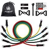 Set de Bandas de Resistencia de FitBeast, bandas elásticas para entrenar con soporte de 100lbs, Kit de Bandas para Entrenar c