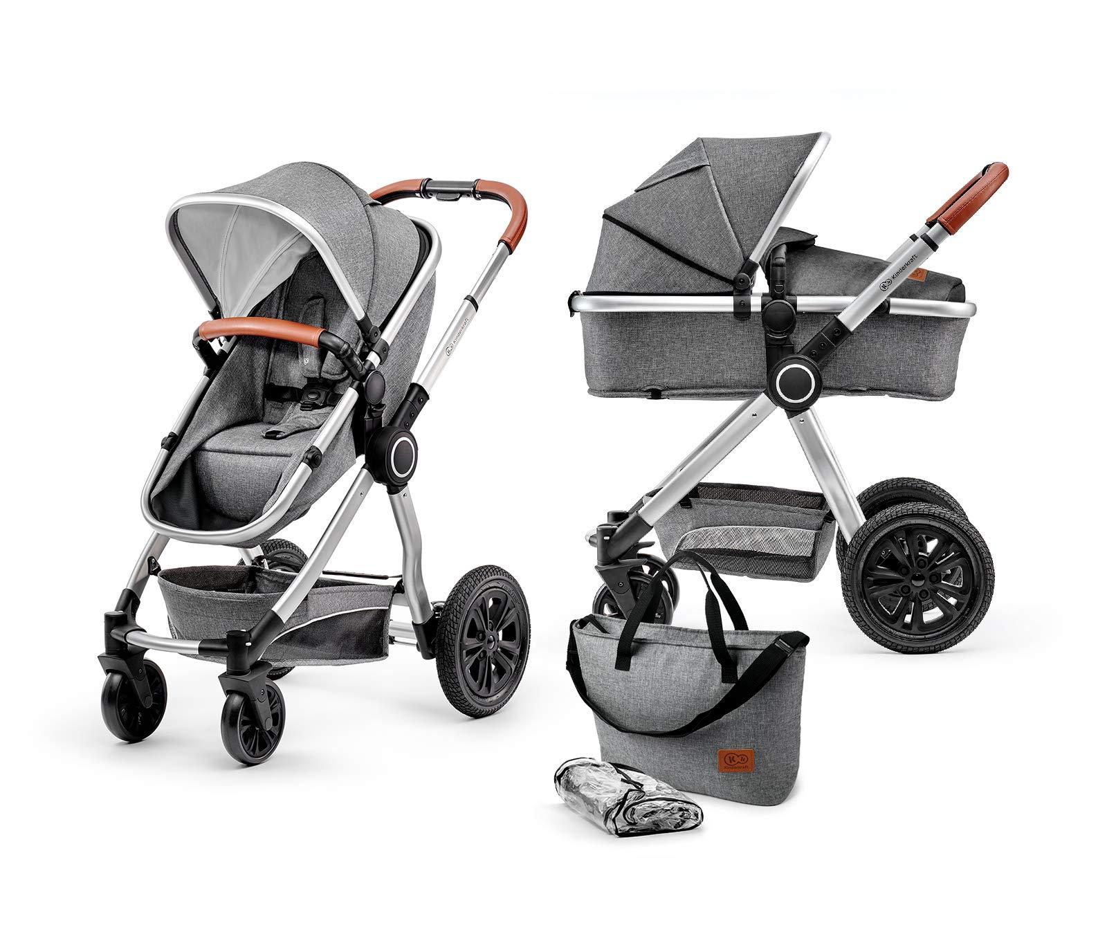 Kinderkraft Kinderwagen 2 in 1 VEO, Kinderwagenset, Kombikinderwagen, Sportwagen, Buggy und Tragewanne in Einem, Zubehör…