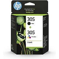 HP 305 Pack de 2 Cartouches d'Encre Noire et Trois Couleurs Authentiques (6ZD17AE)