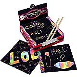Scratch Art Kit - Magic Scratch Off Notes y [2] Stylus Tools para niños y Adultos - 100 Hojas de Papel Negro - Cree Coloridas
