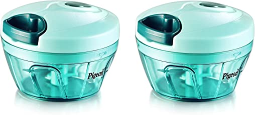 Pigeon Handy Chopper, Triple Blade, Green Colour With Pull Cord Technology (Set Of 2 Pcs.)