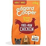 Edgard & Cooper Pienso para Perros Adultos Naturel Sin Cereales con Pollo Fresco de Granja 2.5kg, Alimentación balanceada Car