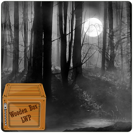 Misty Forest at Night Live - Horror Halloween Live Wallpaper